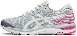 ASICS Women's Gel-Cumulus 21 Running Shoes, Piedmont Grey/Wh
