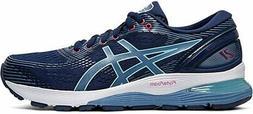 ASICS Women's Gel-Nimbus 21 Running Shoe, Blue Expanse/Grey