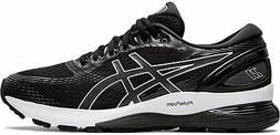 ASICS Women's Gel-Nimbus 21 Running Shoes, Black/Dark Grey,