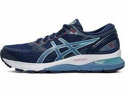 ASICS Women's Gel-Nimbus 21 Running Shoes, Blue Expanse/Grey
