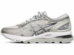 ASICS Women's Gel-Nimbus 21 Running Shoes, Mid Grey/Silver,
